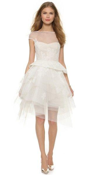 Monique Lhuillier Zoey Cap Sleeve Dress