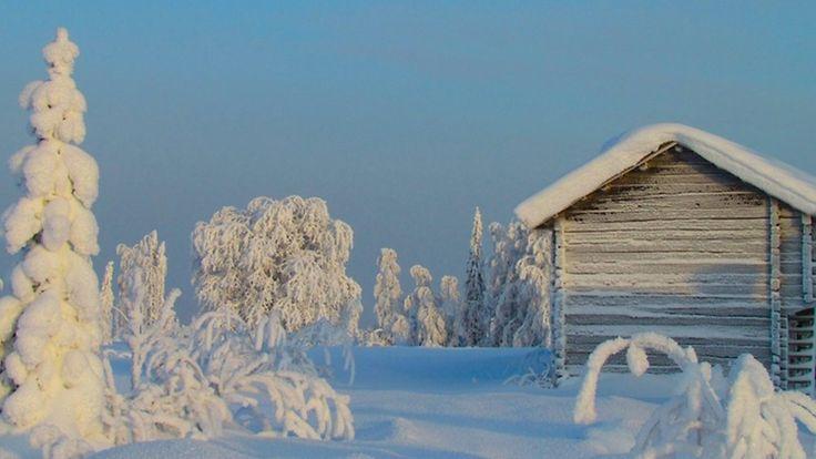 Hyrynsalmi, Paljakkavaara 04.02.12. Pakkasta -34c ja tykkylunta paljon.