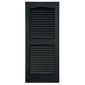 Severe Weather 2-Pack Louvered Vinyl Exterior Shutters (Common: 15-in x 39-in; Actual: 14.5-in x 38.5-in)