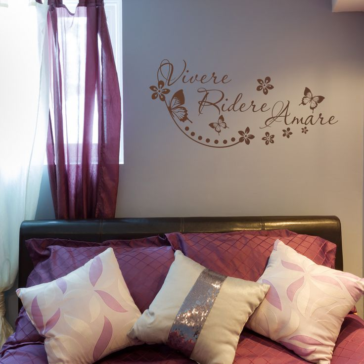 Style and Apply 'Vivere, Ridere, Amare' Wall Decal