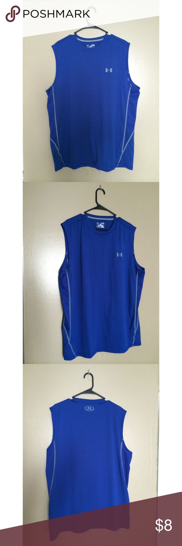 Men's Under Armour Tank in Royal Blue Men's XL | Pre-Owned | Willing to bundle with Royal Blue Men's Under Armour Short for $15. ***WILLING TO BUNDLE with the other two Men's Under Armour Tanks, 3 for $20 **** Under Armour Shirts Tank Tops