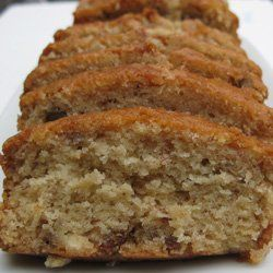 Banana Nut Amish Friendship Bread ~ Made it last night, had to spank Stephen's hand to get him out of the pan.  Used 4 bananas, 1 box of pudding and no nuts.