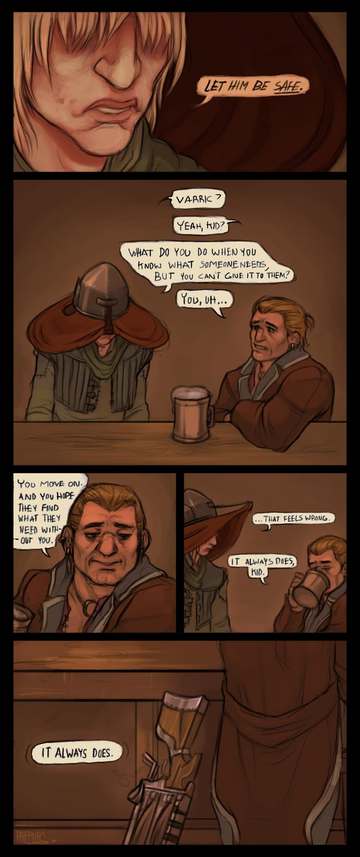 """Dragon Age Inquisition, Varric and Cole """"But it's just part of being a person"""""""