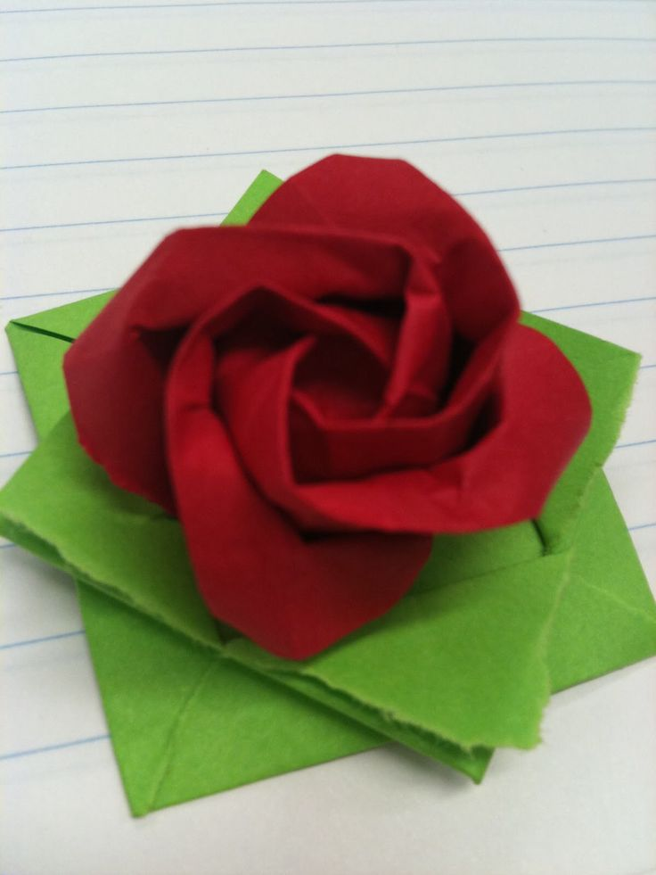 Gewone origami roos.