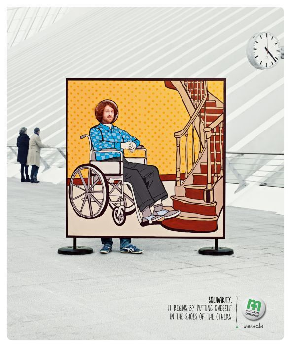 Mutualité chrétienne: Wheelchair | Ads of the World™