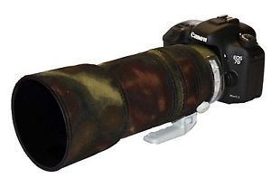 a canon 100 400mm es mk2 neopreno lente proteccion camuflaje camo musgo cubierta