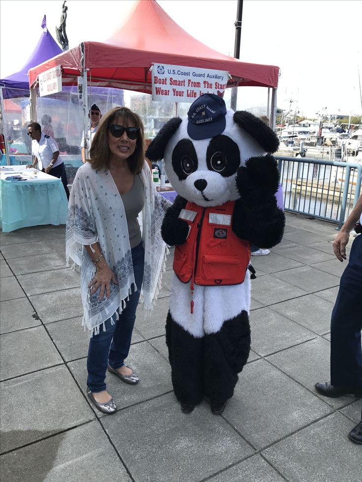 US Coast Guard panda at the Fishermen's Fall Festival 2017. Seattle Fishermen's Terminal.