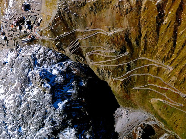 Beautiful, Troubling Photos Show Our Planet as Astronauts See It | Stelvio Pass, Northern Alps, Italy   Benjamin Grant/DigitalGlobe  | WIRED.com