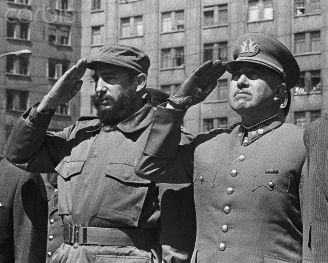 Castro & Pinochet, Santiago de Chile, nov 1971