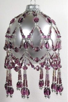 February Crystal Birthstone Ornament Cover Pattern