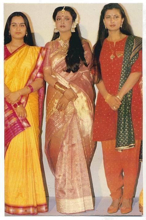 Rekha & Poonam Dhillon & Padmini Kolhapure. Bollywood Actress. Condition like on picture. | eBay!