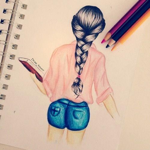 20 beste idee n over meiden tekeningen op pinterest - Kleur van slaapkamer meisje ...