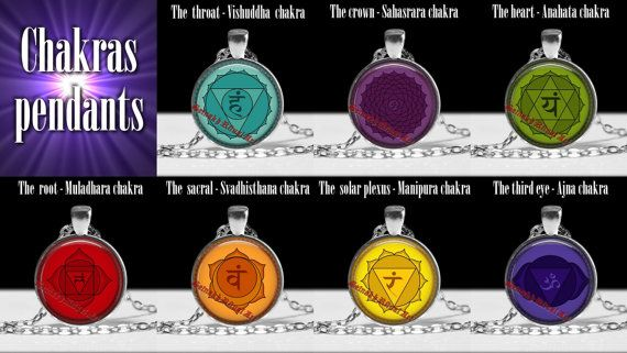 218# Chakra pendant | third eye, crown, root, heart, sacral, solar plexus, throat, chakras necklace, chakras jewelry, chakra centers, energy