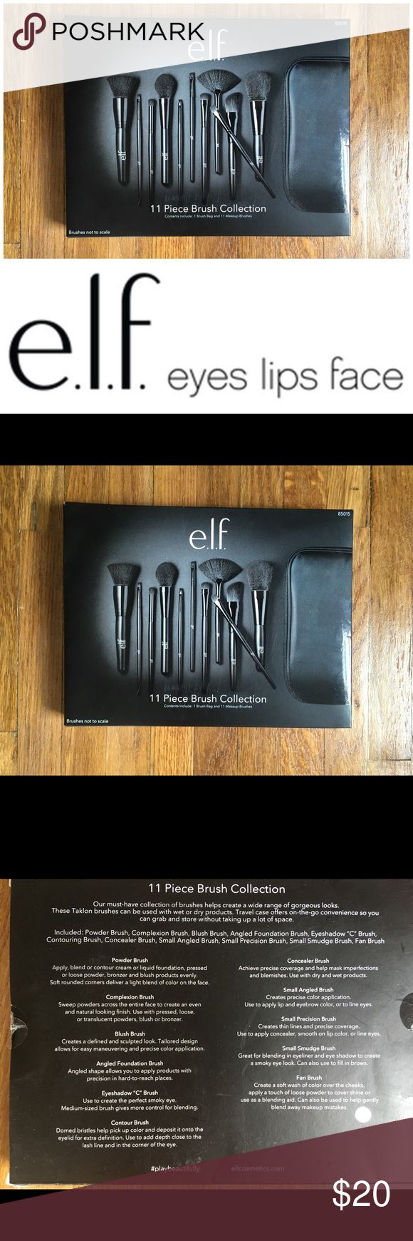 New Unopened ELF 11-Piece Brush Set New & Unopened, ELF 11-piece brush set. I love these brushes! I put together my favorites packages for my clients, and often have extra products that I sell on here! I'm open to reasonable offers, especially if you're bundling with other items - you'll pay the same in shipping if you buy one or multiple items from my closet. I give a free gift with every purchase! All the funds go to the non-profit organization I'm founding. Check back often as I post new…