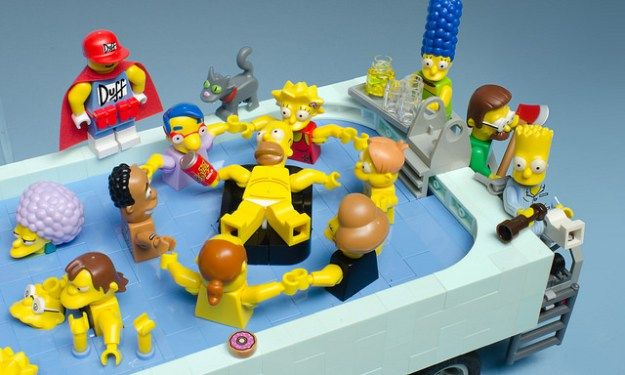 Springfield Pool-Mobile, Homer by Brian Williams @brothersbrick #lego #simpsons