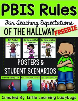 If you liked my original original PBIS Rules Posters and Printables pack you are going to LOVE this companion pack for teaching the expectations of the hallway!Get your students off on the right foot for back to school with these FREE resources for teaching school PBIS rules!