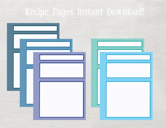 204 best Recipe book ideas images on Pinterest Recipe books - free recipe card templates for microsoft word