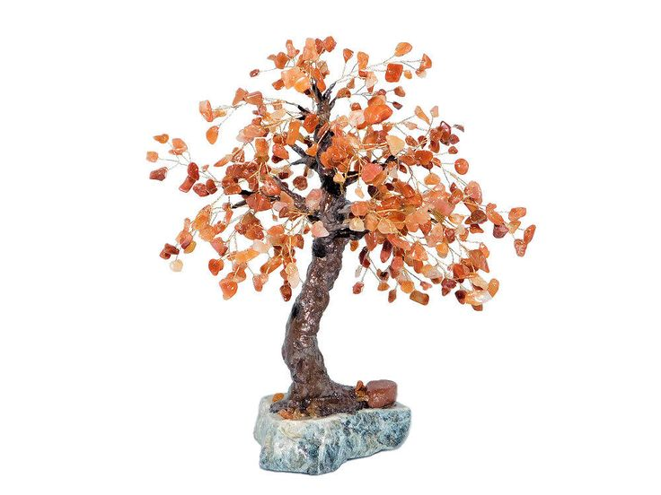 22cm Fire Agate Autumn Maple Tree Bonsai on Rock. Feng Shui Gemstone Tree. Oriental Red Orange Tree. Handmade Red Beaded Bonsai. Fall Tree by BeadedGardenCanada on Etsy
