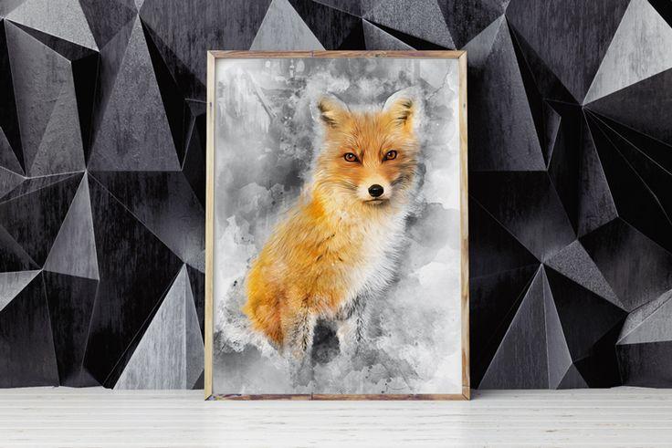#interiordesign #design #watercolor #fox #rudy #redfox