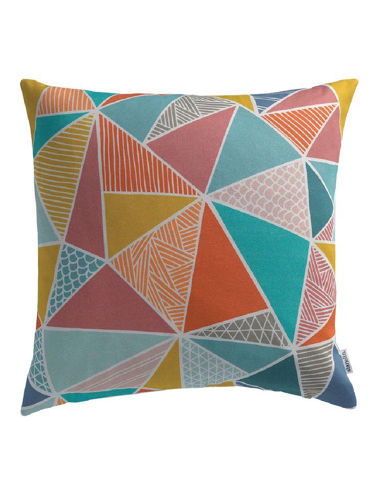 Tress in Multi-Color Cushion Cover