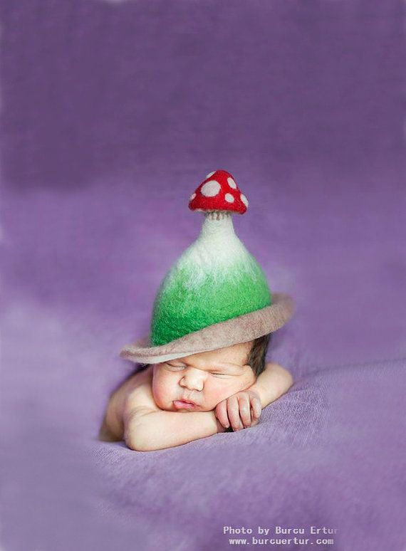 Awesome Etsy listing at https://www.etsy.com/pt/listing/164331020/unique-handmade-felt-hats-for-babies