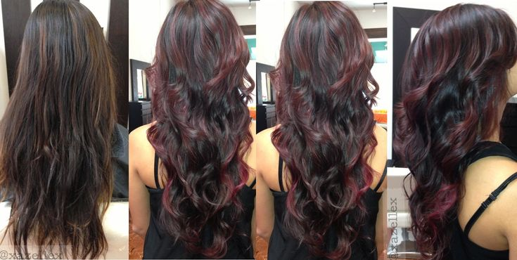 ... , Ombre Hair Color, Red, Based Dye, Haircolor, Dark Brown, Brown Hair