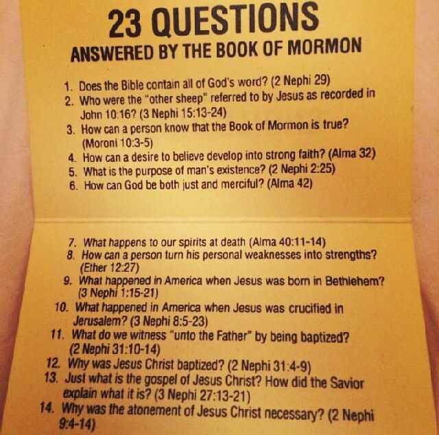 23 questions answered by the Book of Mormon. #scriptures #lds #mormon