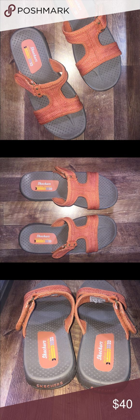Ladies Skechers Outdoor Lifestyle Sandals Orange Ladies Skechers Outdoor Lifestyle Sandals Orange Size 6M * Free Shipping* new without box & tags only Tried on Skechers Shoes Sandals