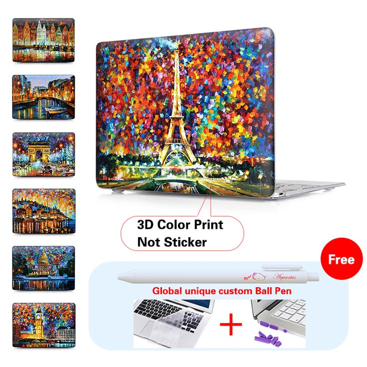 EIFFEL TOWER Oil painting Matte Laptop Case Cover Sleeve For Macbook Air 11 A1465 Air 13 inch A1466 Pro 13 A1278 New Retina 13''