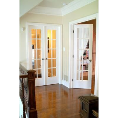 Milette interior french door primed with 10 lites clear - Home depot double doors interior ...
