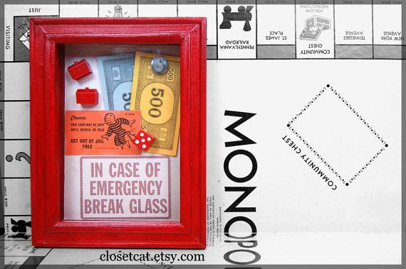 Monopoly Emergency Kit - In case of Emergency - Monopoly Board Game, Rusteam Red, Monopoly Spare Part, Board Game Pieces, Money $18