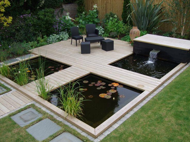 garten wasserfall selber bauen gartenbrunnen Gartengestaltung - wasserfall im garten modern