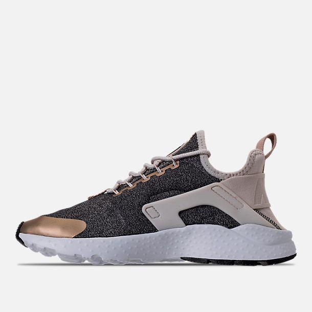 5ebb335fa8244 Left view of Women s Nike Air Huarache Run Ultra Casual Shoes in Light  Orewood Brown Blur