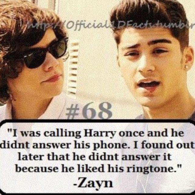 One Direction Fact #HarryStyles #ZaynMalik