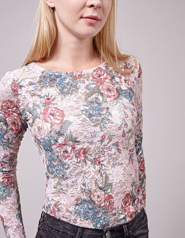 At Stradivarius you'll find 1 Lace print top for woman for just 25.95 Bulgaria . Visit now to discover this and more VIEW ALL.