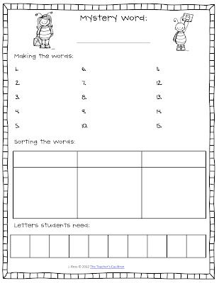Classroom Freebies: Making Words in Guided Reading