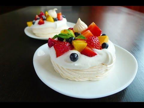 ПАВЛОВА. Очень вкусный, воздушный порционный десерт Павлова! - YouTube