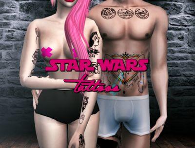 The Sims 4 Mody: Tatuaże Star War od Neverlight Sims