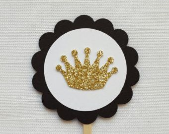 Silver Prince Crown Cupcake Toppers Set of by ImagineCelebrations