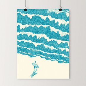 To The Sea - Art print | I Love Doodle - The visual art of Lim Heng Swee