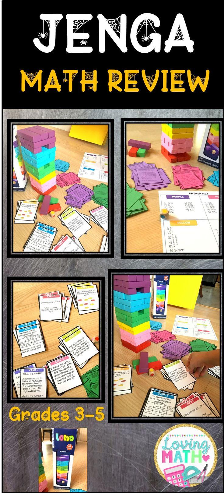 Super fun game to review math skills!!