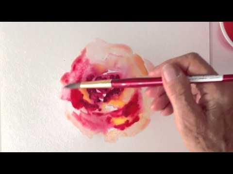 How to paint a watercolor rose in an impressionistic way.