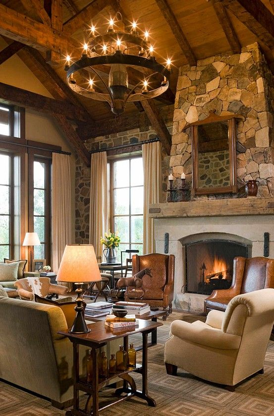 634 best living room /great room/ fireplace images on Pinterest ...
