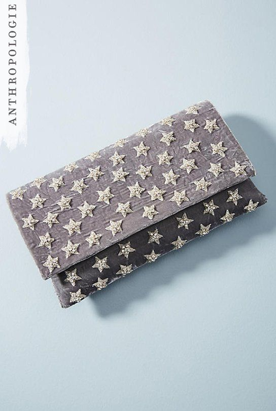 Velvet Star Clutch | Shop Anthropologie holiday gifts