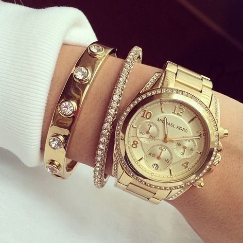 Gold Watch - Diamonds - Bracelets Repin & Follow my pins for a FOLLOWBACK!