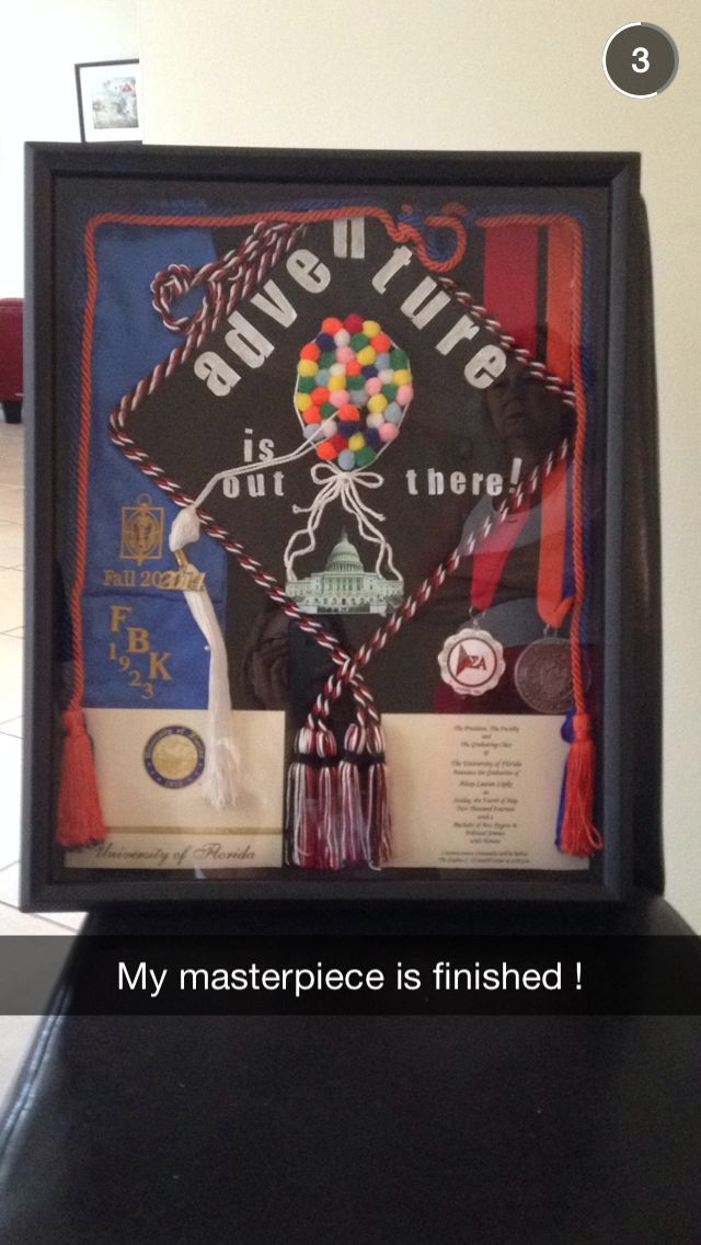 My graduation shadow box (: