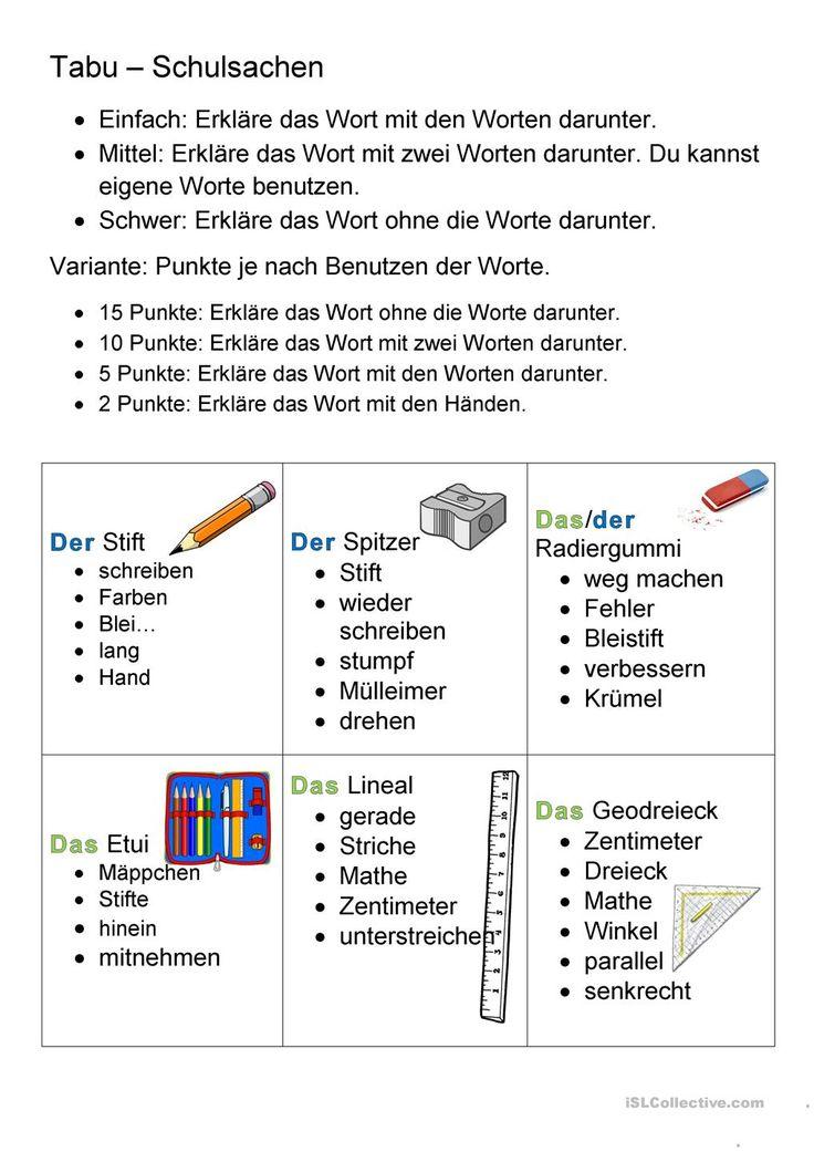 18 best Deutschunterricht images on Pinterest   Deutsch, Drama and ...