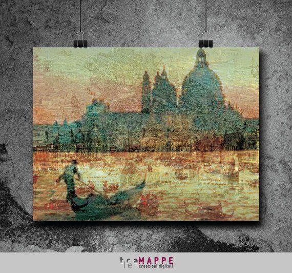 Carta Veneziana di TraLeMappe su Etsy
