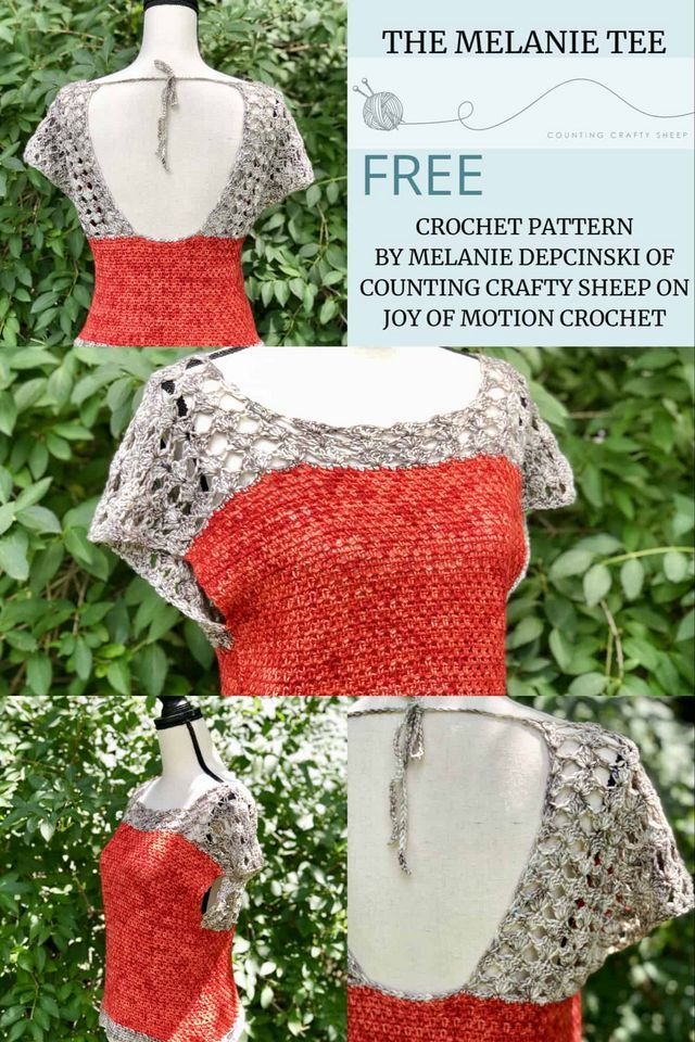 The Melanie Tee – FREE Crochet Pattern Featuring Baad Mom Yarns