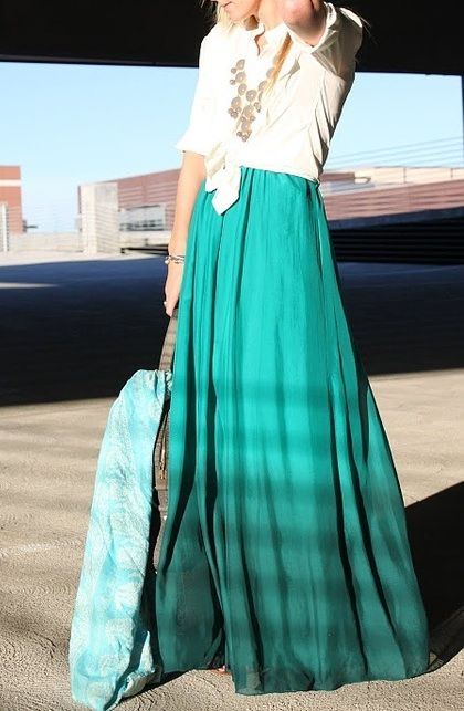 Maxi skirts are all the rage again this year!  Dareen Hakim Collection | Chic. Bold. Unexpected. | www.dareenhakim.com